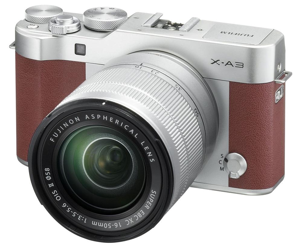 Fujifilm X-A3 Marron Lateral